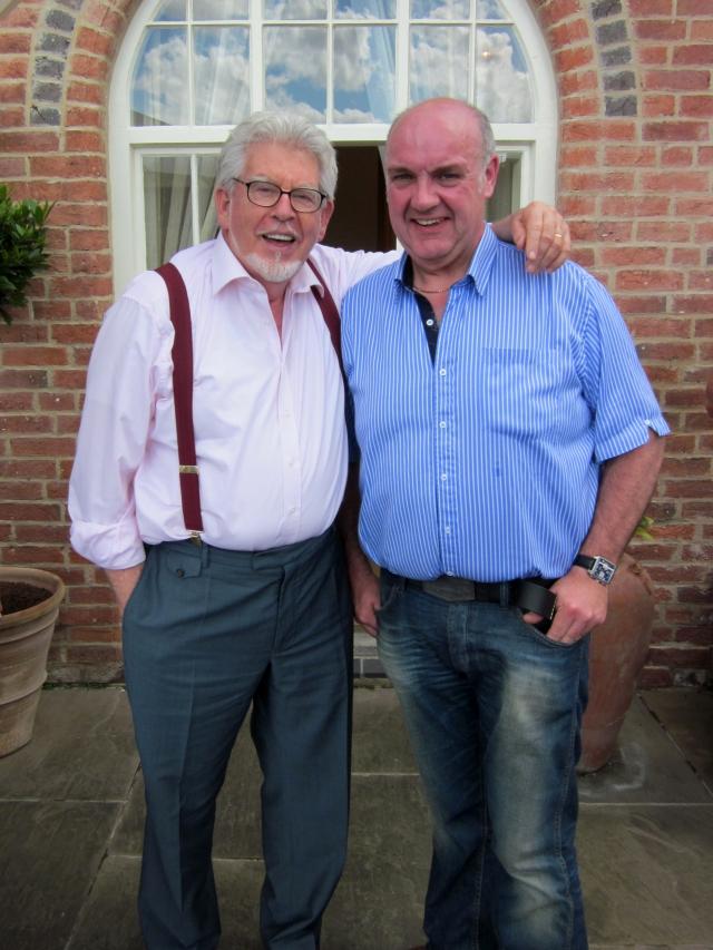 Rolf Harris alongside our Gallery Owner, Jonathan