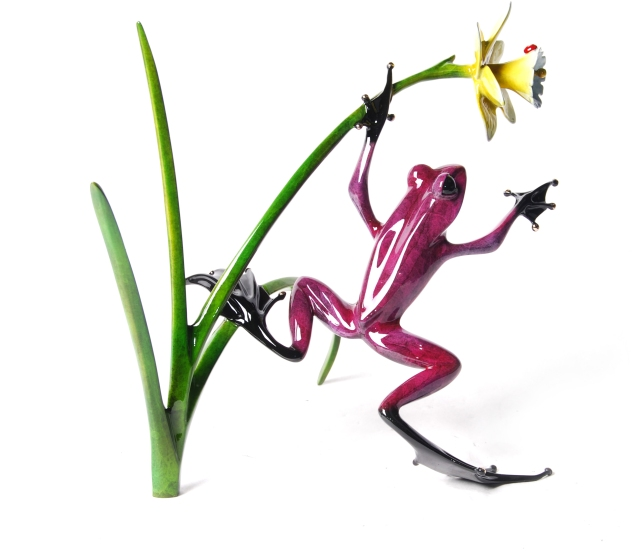 Frogman Flower Sculpture 2012 - Daffodil by Tim Cotterill