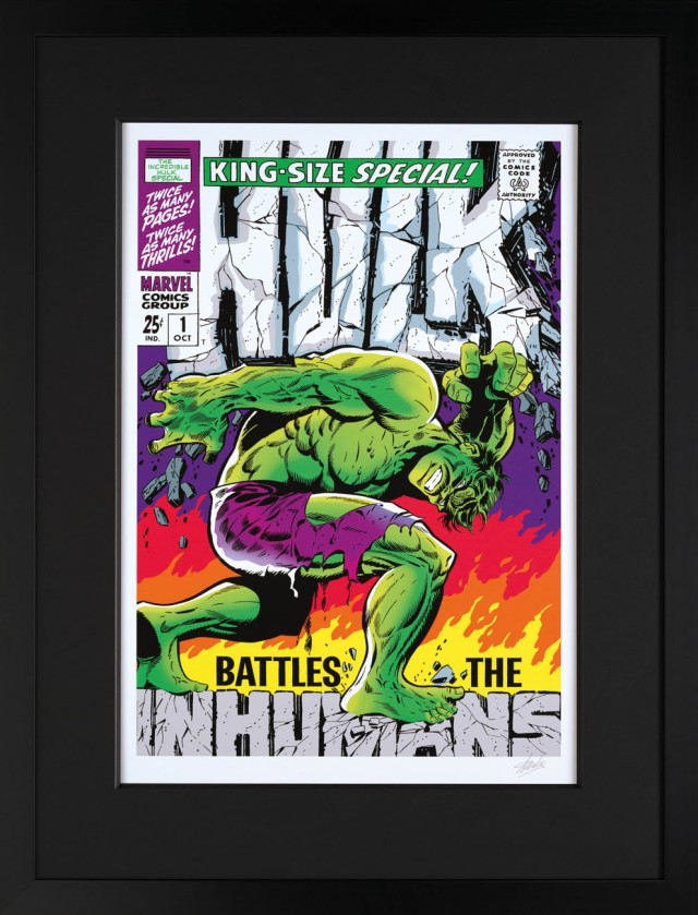 THE INCREDIBLE HULK SPECIAL #1 Limited Edition Print Personally signed by Stan Lee