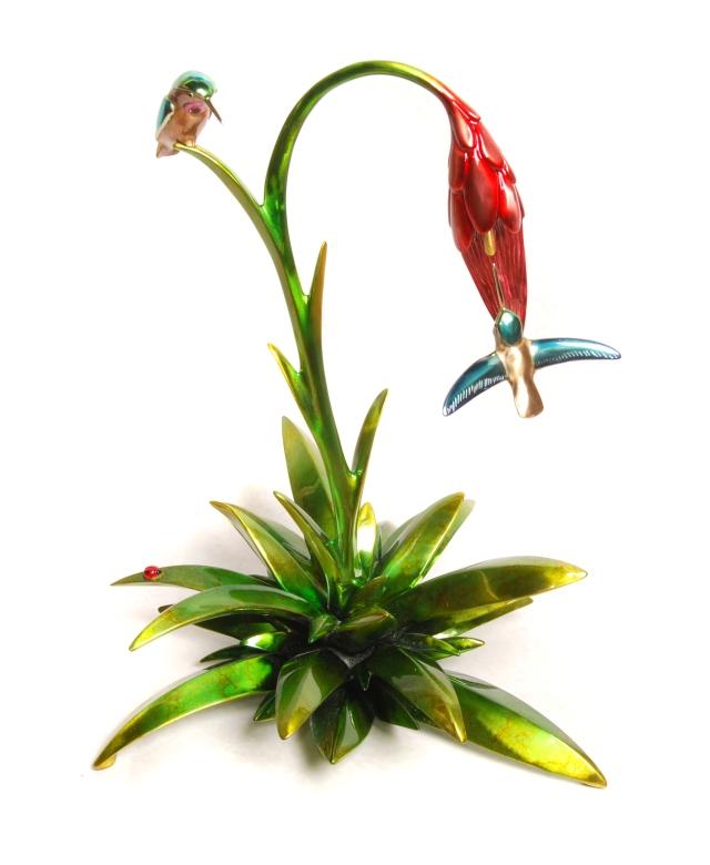 Frogman - Hummingbird Bird Sculpture 2013