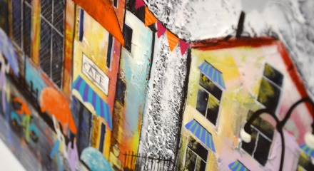Streets Paved with Rain by Rozanne Bell - Detail