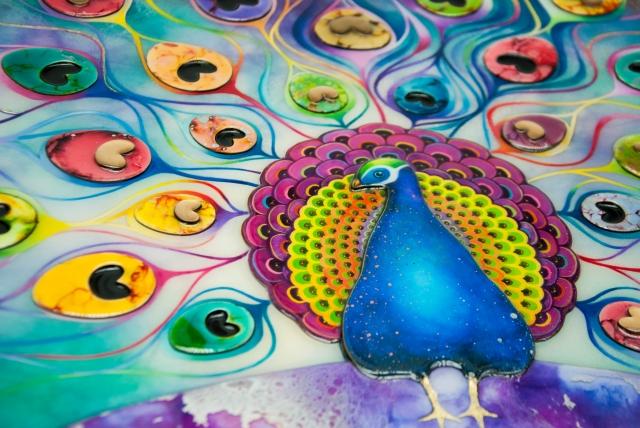 Peacock Splendour by Kerry Darlington - Detail